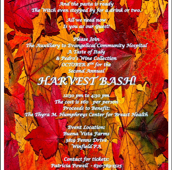 Second Annual Harvest Bash October 8, 2017